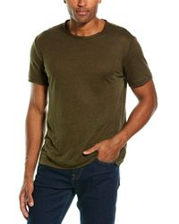 7 For All Mankind 7 For All Mankind Jersey Linen T=shirt - Green