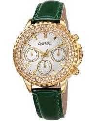 August Steiner Patent Leather Watch - Metallic