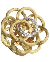 Marco Bicego Jaipur Link 18k Two-tone 0.15 Ct. Tw. Diamond Knot Ring - Metallic