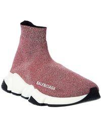 Balenciaga Speed Glitter Sock Trainer - Pink