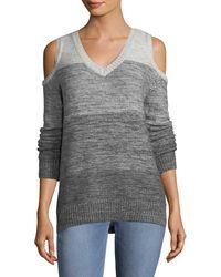Rebecca Minkoff Cold-shoulder Sweater - Gray