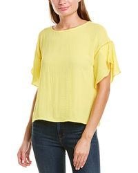 Vince Camuto Tulip Sleeve Top - Yellow