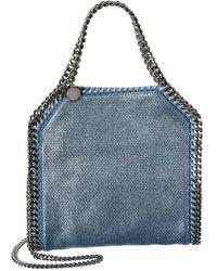 Stella McCartney Falabella Mini Woven Tote - Blue
