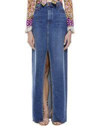 Alice + Olivia Gorgeous Braided Maxi Skirt - Blue