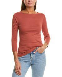 Three Dots 3/4-sleeve British T-shirt - Red