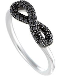 Georg Jensen Silver 0.26 Ct. Tw. Diamond Ring - Metallic