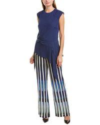 Nicole Miller Artelier Silk Blouse - Blue
