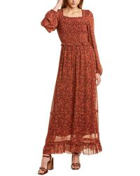 FARM Rio Leopard Garden Maxi Dress - Red