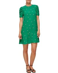 Whistles Romantic Floral Georgina Dress - Green