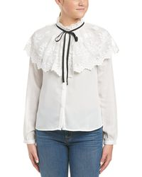 Jealous Tomato - Embroidered Lace Trim Blouse - Lyst