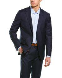 Ermenegildo Zegna 2pc Wool Suit With Flat Front Pant - Blue
