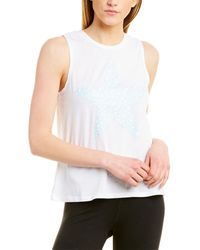 Betsey Johnson Dotted Star Muscle Swing Tank - White