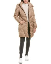 Cole Haan Quilt Stitch Down Coat - Brown