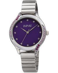 August Steiner Quartz Purple Dial Ladies Watch