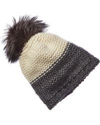 Portolano Cashmere Contrast Wool-blend Hat - Multicolour
