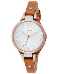 Fossil Georgia Watch - Metallic
