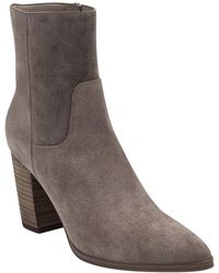 Marc Fisher Giana Suede Bootie - Brown