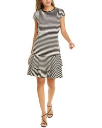 Akris Punto Striped Shift Dress - Black