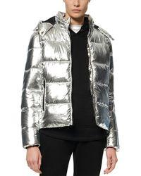 Marc New York Metallic Puffer Coat
