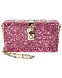 Dolce & Gabbana Embellished Box Clutch - Multicolour