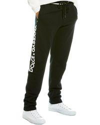 Dolce & Gabbana 3d Logo Cotton Jersey Track Pants - Black