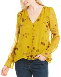 Joie Bolona C Silk Top - Yellow
