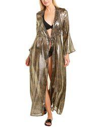 Paolita Metallic Silk-blend Kimono