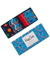 Happy Socks 4pc Sock Gift Box - Blue
