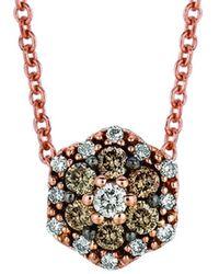Le Vian ? Grand Sample Sale 14k Strawberry Gold? 0.17 Ct. Tw. Diamond Pendant - Metallic