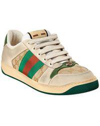 Gucci Men's Screener GG High-top Sneaker - White