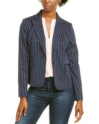 Karl Lagerfeld Pinstripe Jacket - Blue