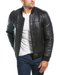 Marc New York Summit Leather Jacket - Black