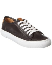 Frye Gia Leather Trainer - Black