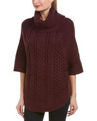 Joules - Wool-blend Poncho - Lyst