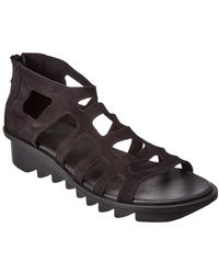 Arche Ikyade Leather Wedge Sandal - Black