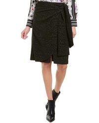 BCBGMAXAZRIA Jacquard Mini Skirt - Black