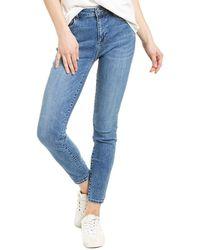 WASH LAB Elizabeth High-rise Tennessee Skinny Leg Jean - Blue