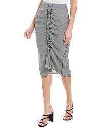 Jason Wu Ruched Skirt - Black
