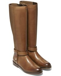 Cole Haan Camry Leather Riding Boot - Brown