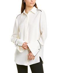 St. John Silk-blend Blouse - White