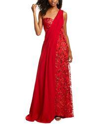 Tadashi Shoji One-shoulder Gown - Red