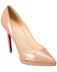 Christian Louboutin - Pigalle Plato 120 Patent Pump - Lyst