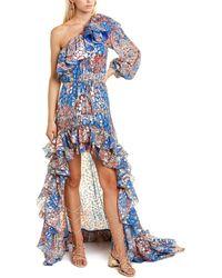 Dundas Silk-blend Gown - Blue