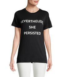 Prabal Gurung Nevertheless She Persisted T-shirt - Black