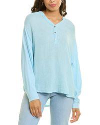 Michael Stars Clarke Mixed Media Shirt - Blue