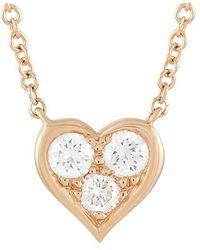 Heritage Tiffany & Co. Tiffany & Co. 18k Rose Gold 0.17 Ct. Tw. Diamond Necklace - Metallic