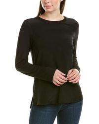 ecru Silk-trim Shirt - Black