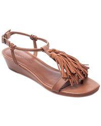 Bernardo - Court Leather Wedge Sandal - Lyst