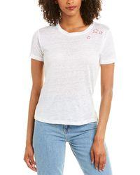 Acrobat Stars Linen T-shirt - White