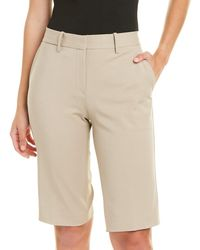 Theory Cropped Stretch Shorts - Natural